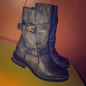 Steve Madden Distressed Motorcycle Boots 6
